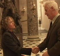 Melissa Weidman meets with Rep. Delahunt